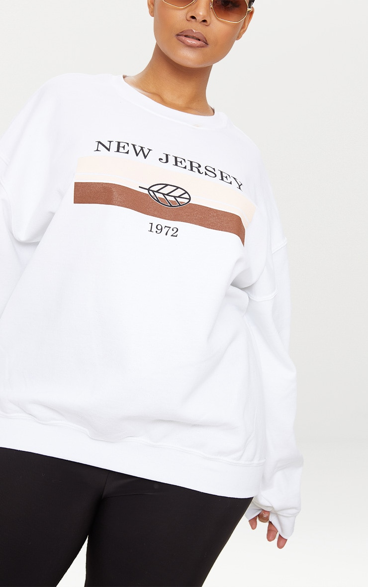 Plus White New Jersey Sweater 5