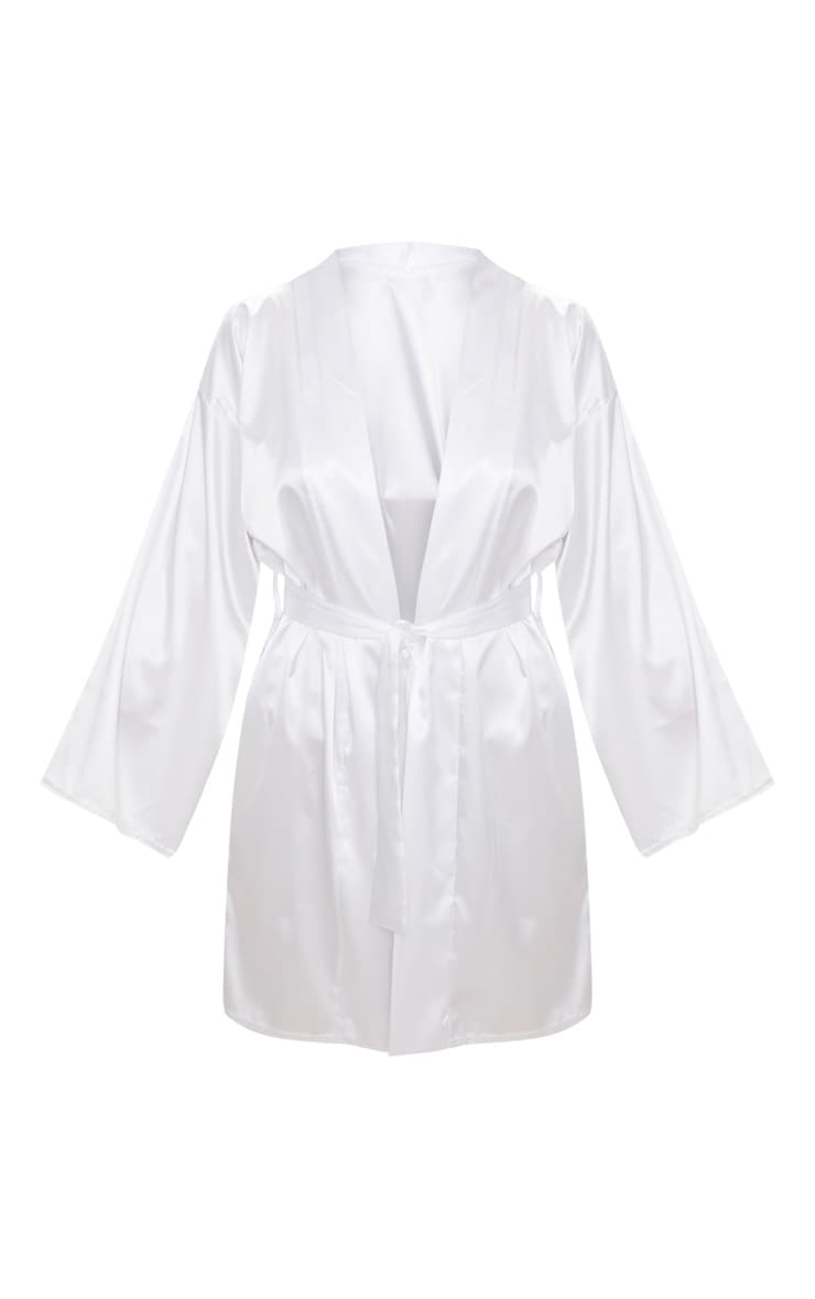 White Satin Robe 3