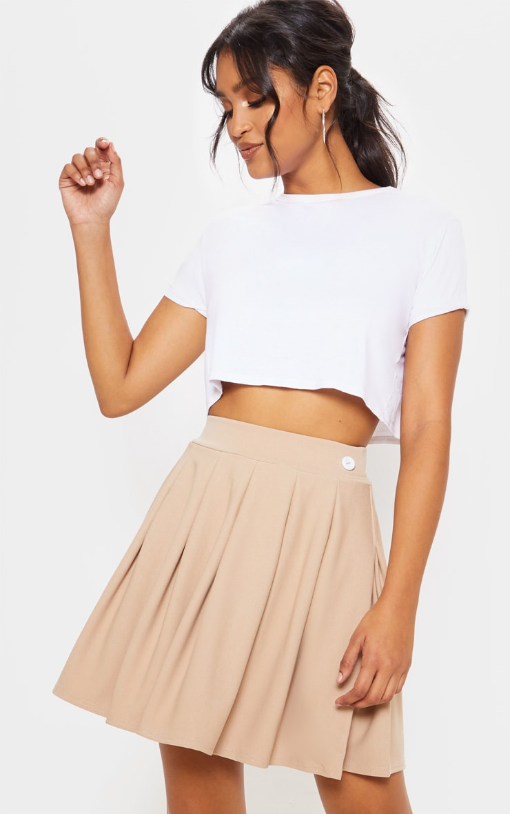 Stone Pleated Tennis Skirt 1