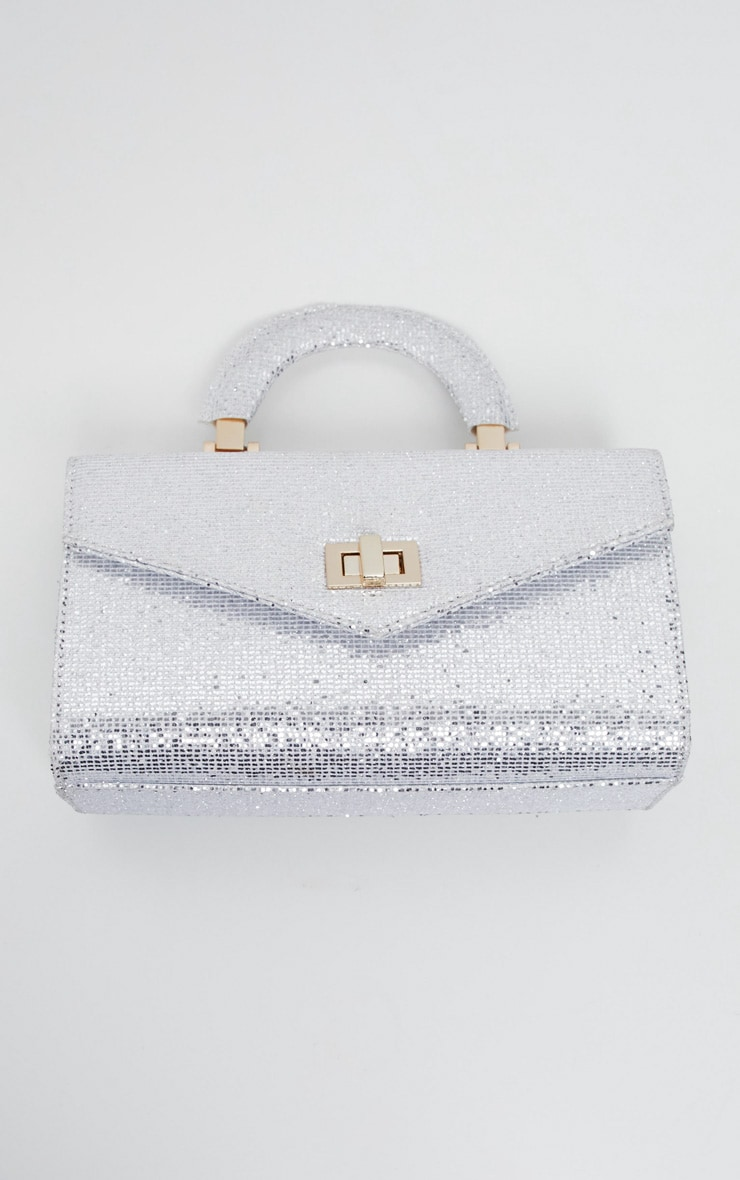 Silver Glitter Rectangle Grab Bag 2