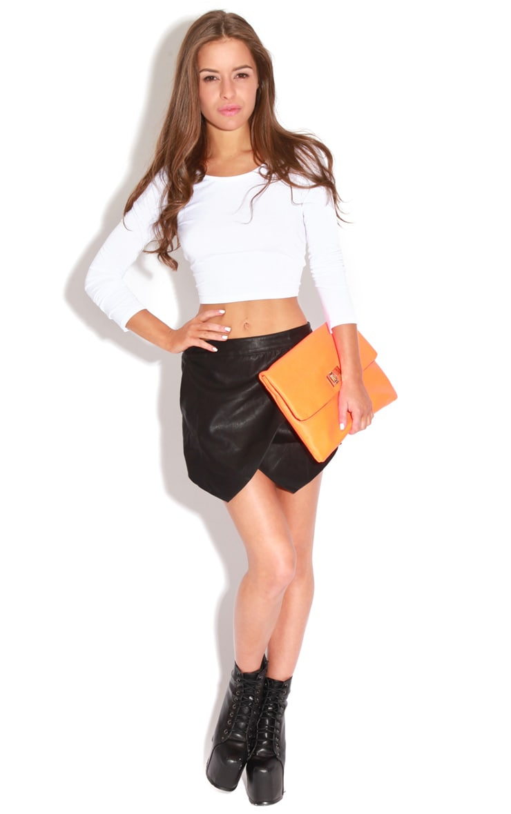 Maria Faux Leather Cross Over Skort-8 4