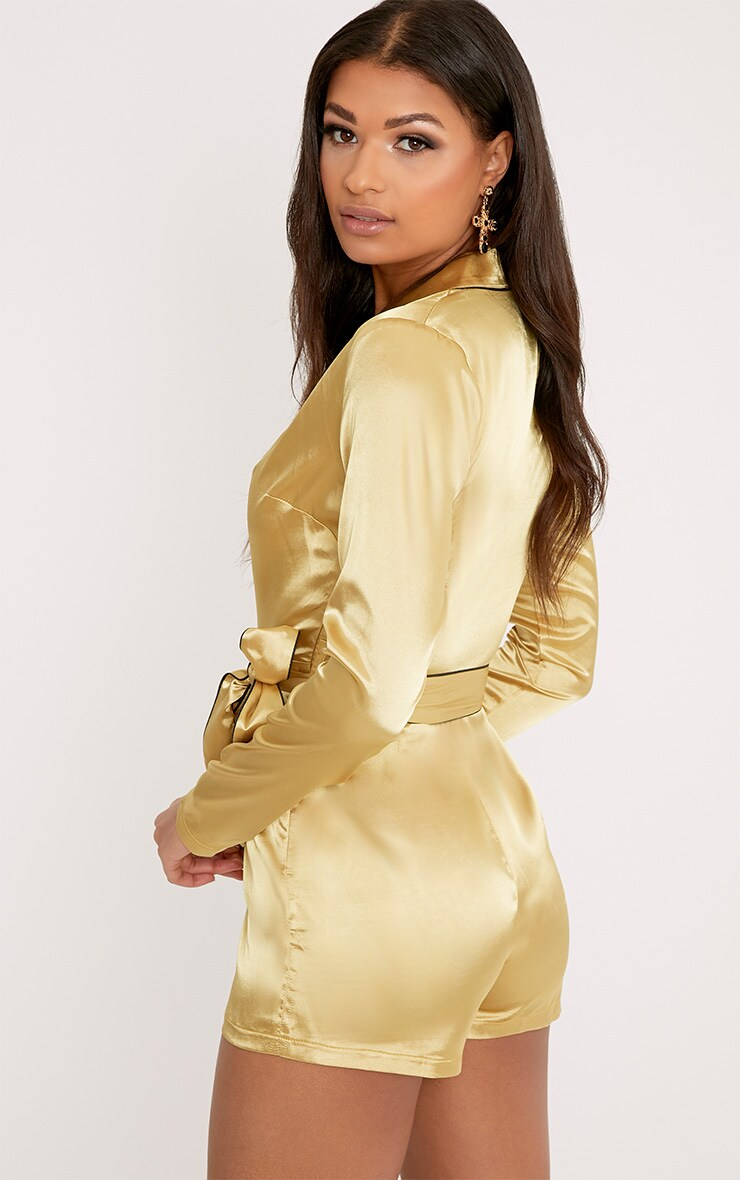 Alisha Gold Pyjama Style Playsuit 2