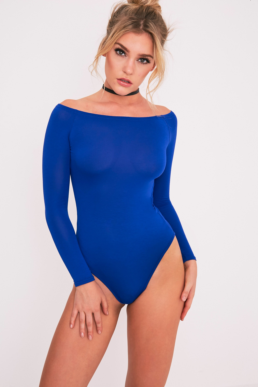 Body col bateau bleu cobalt basique 3