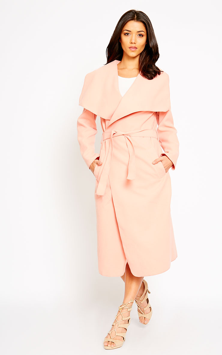 Veronica Peach Waterfall Coat 5