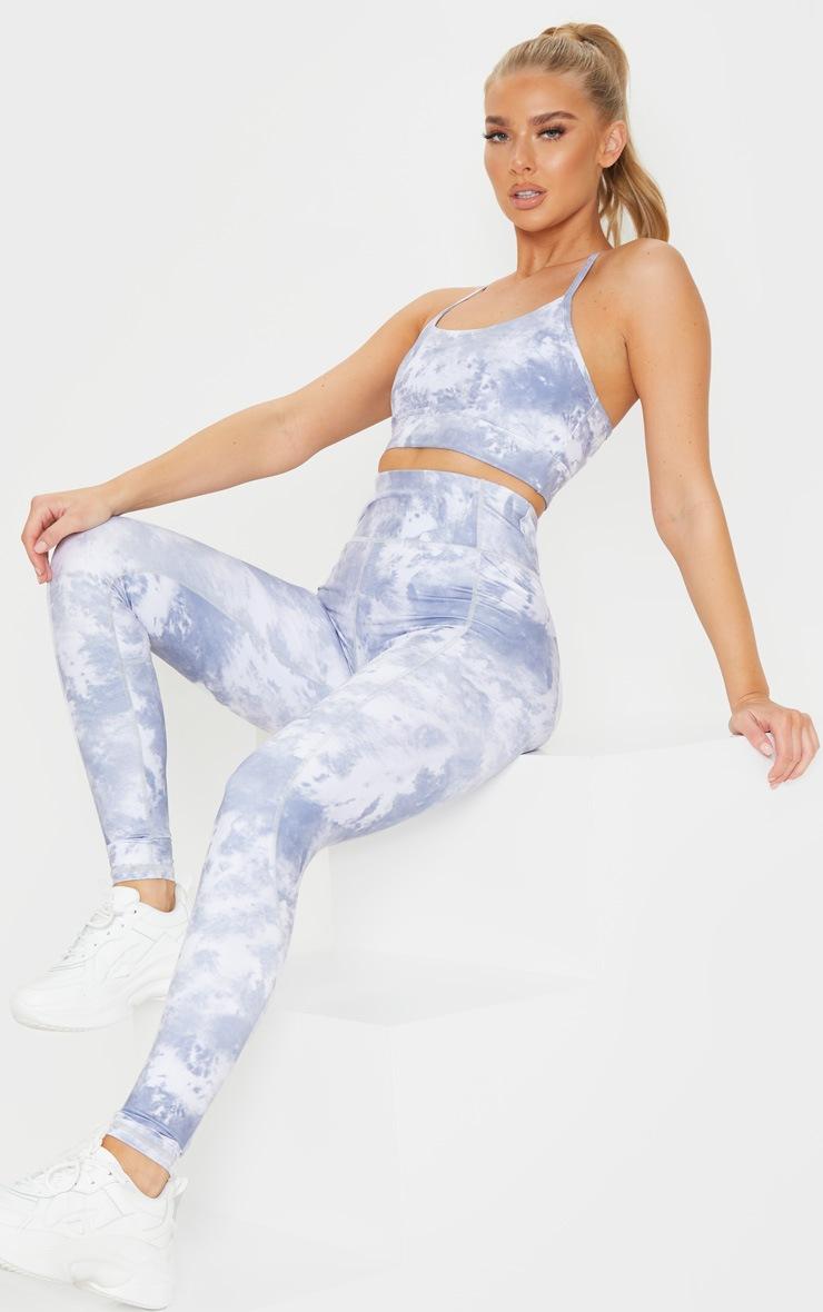 Blue Acid High Rise Gym Legging image 1
