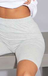 Basic Grey Cotton Blend Cycle Shorts 5