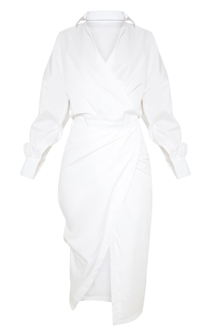 White Midi Shirt Dress 3