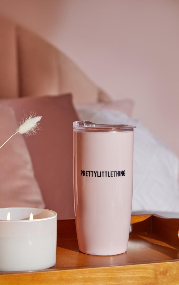 PRETTYLITTLETHING Pink Plastic Tumbler 1