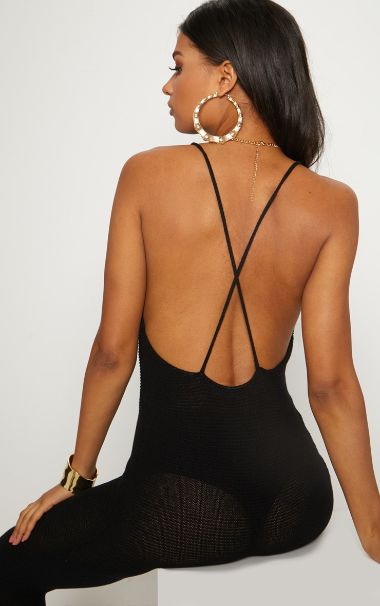 Black Knitted Jumpsuit 5
