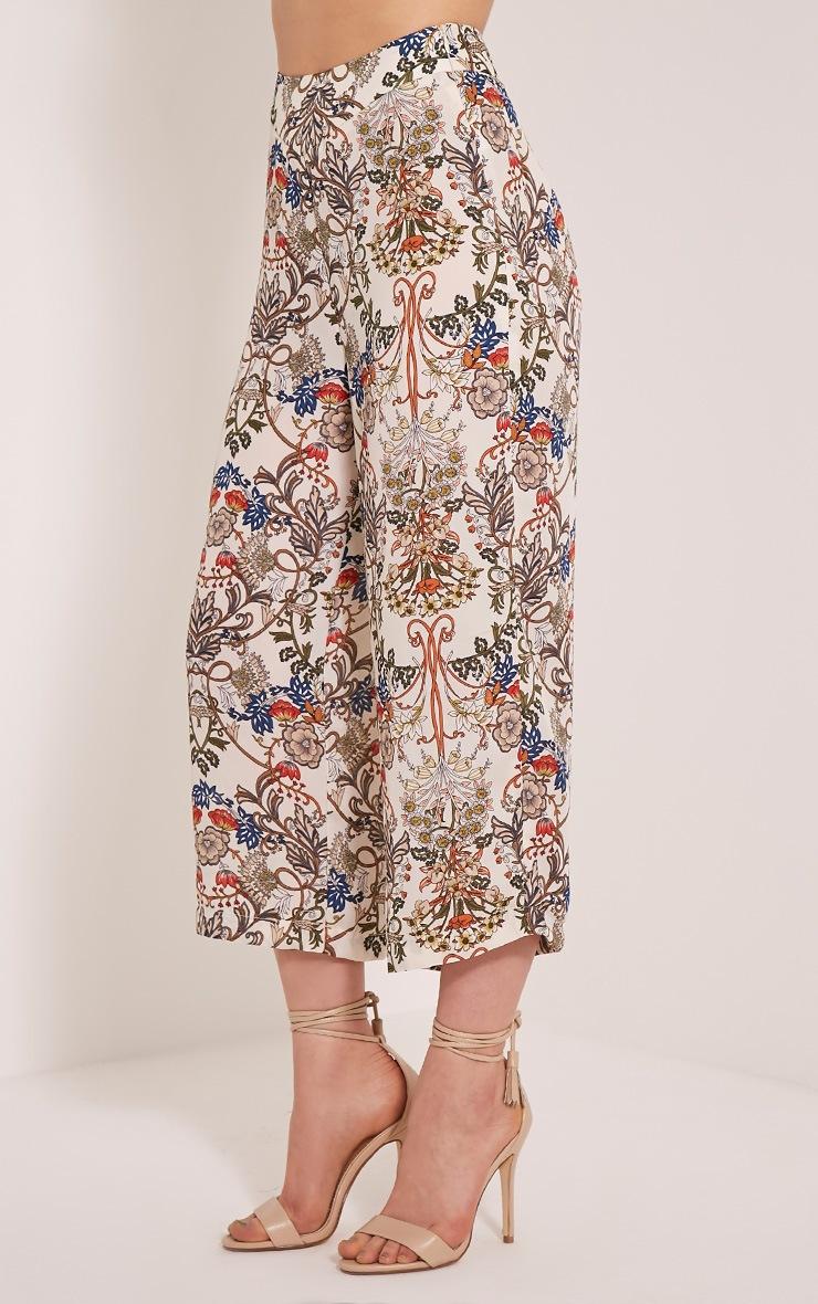 Sarah Beige Floral Culottes 4