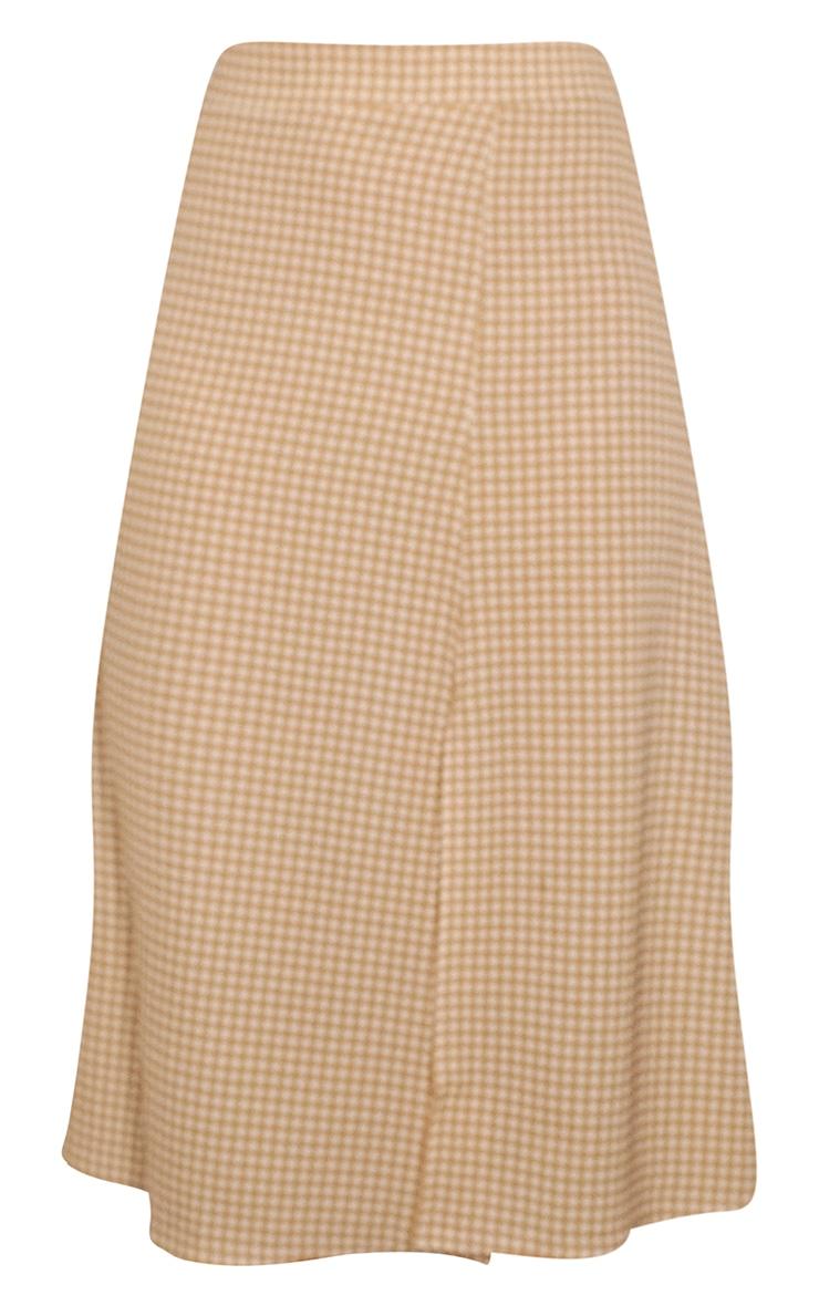 Stone Gingham Floaty Midi Skirt 5