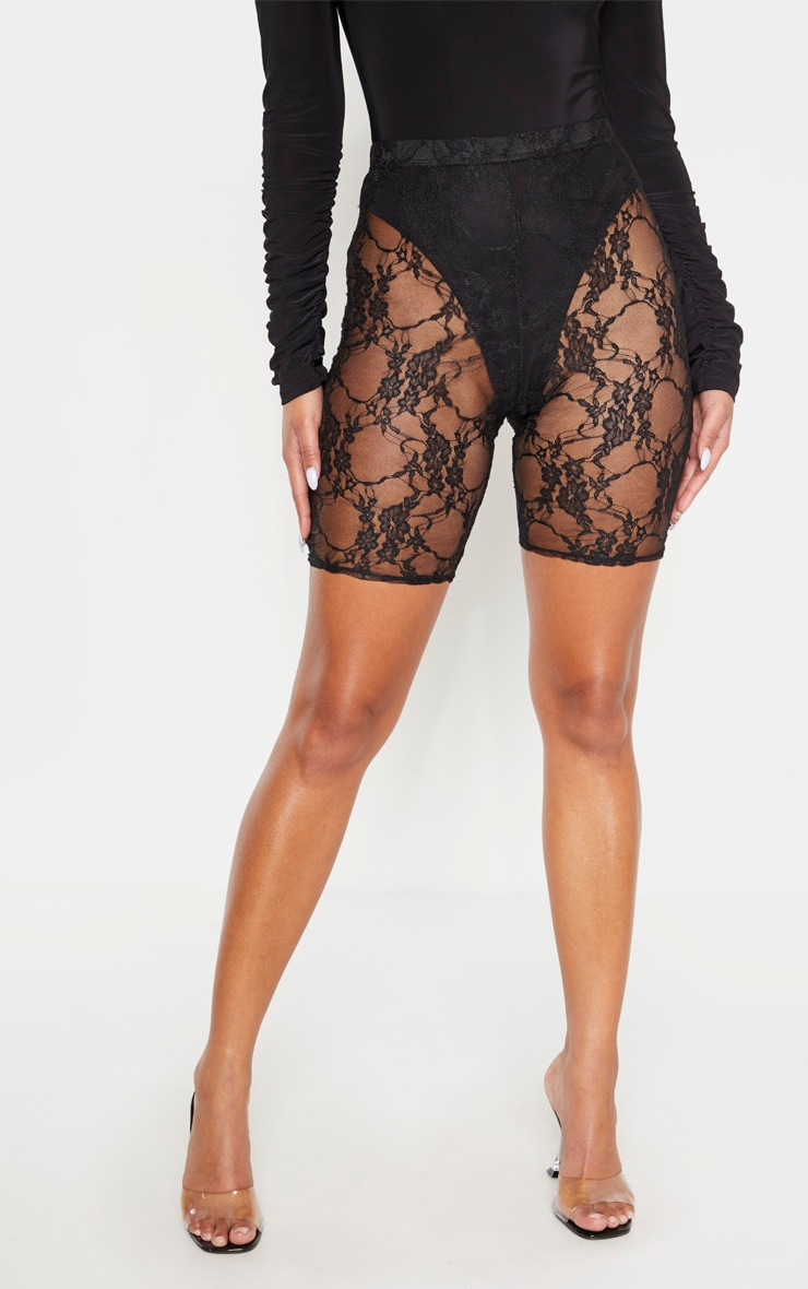 Black Lace Bike Shorts 2