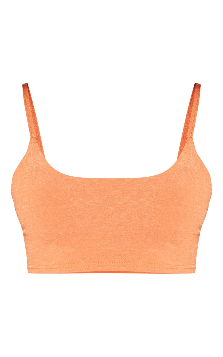 Shape Tangerine Strappy Crop Top 3