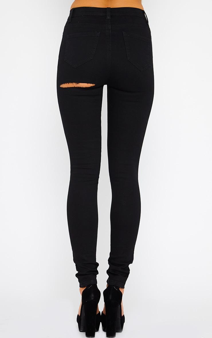 Rayce Black Ripped Leg Jeans  2