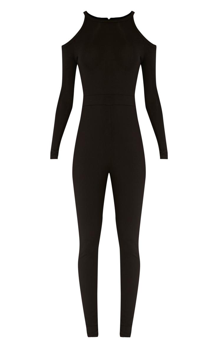 Bessy Black Cold Shoulder Jumpsuit 3