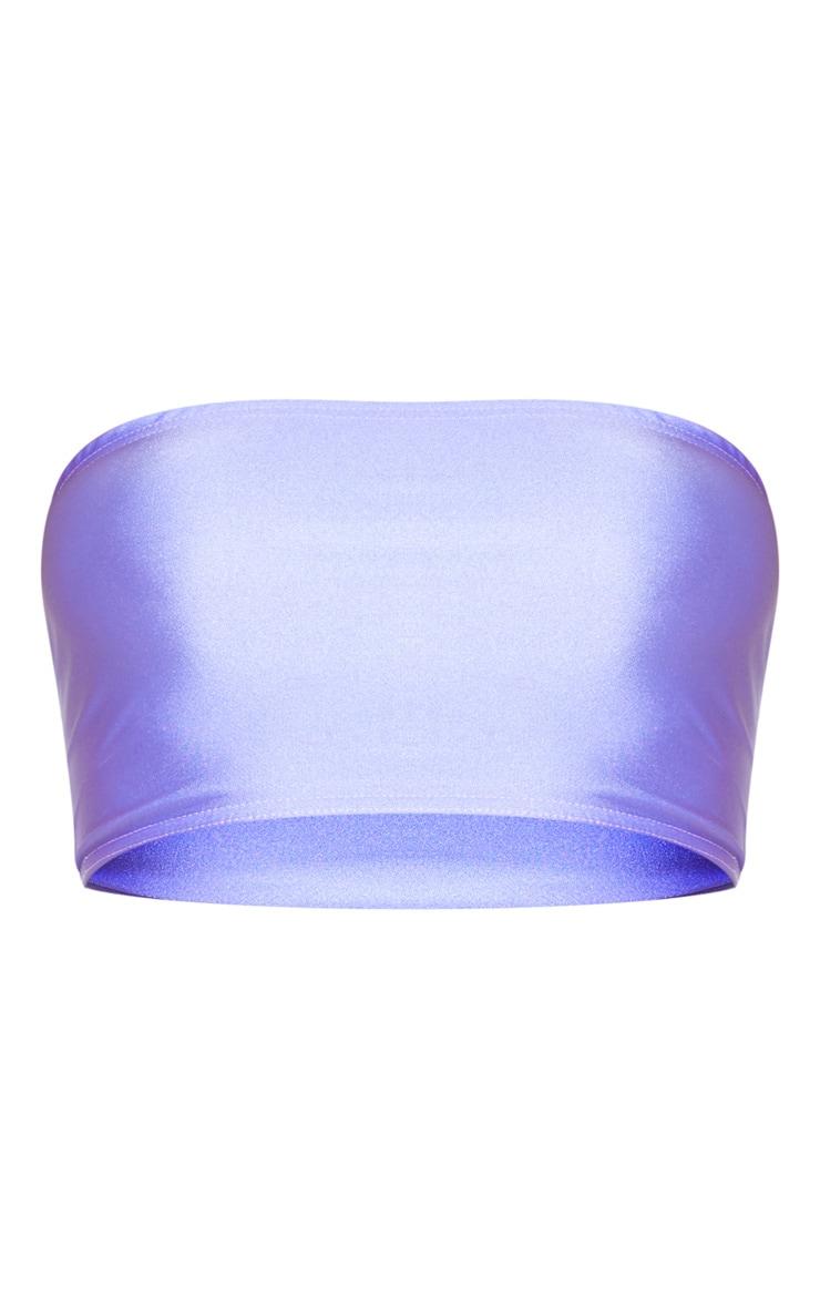 Lilac Disco Bandeau Crop Top 3