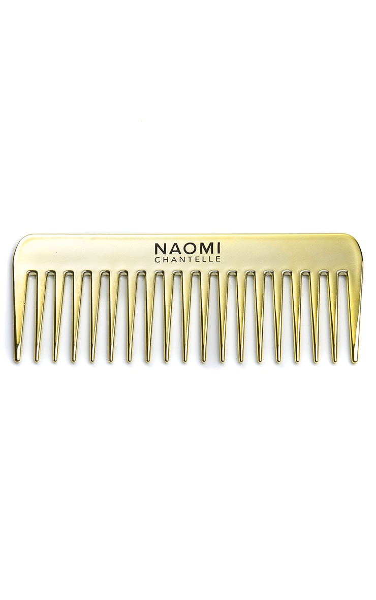 Naomi Chantelle Exclusive Gold Plated Comb and Paddle Brush (Worth £20.00) 2