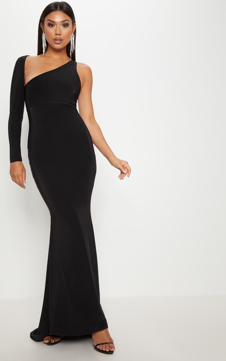 Black Wrap Sleeve Maxi Dress 1