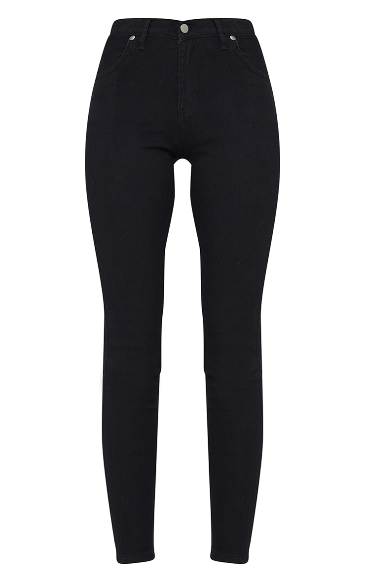 Black Dipped Waistband Skinny Jeans 5
