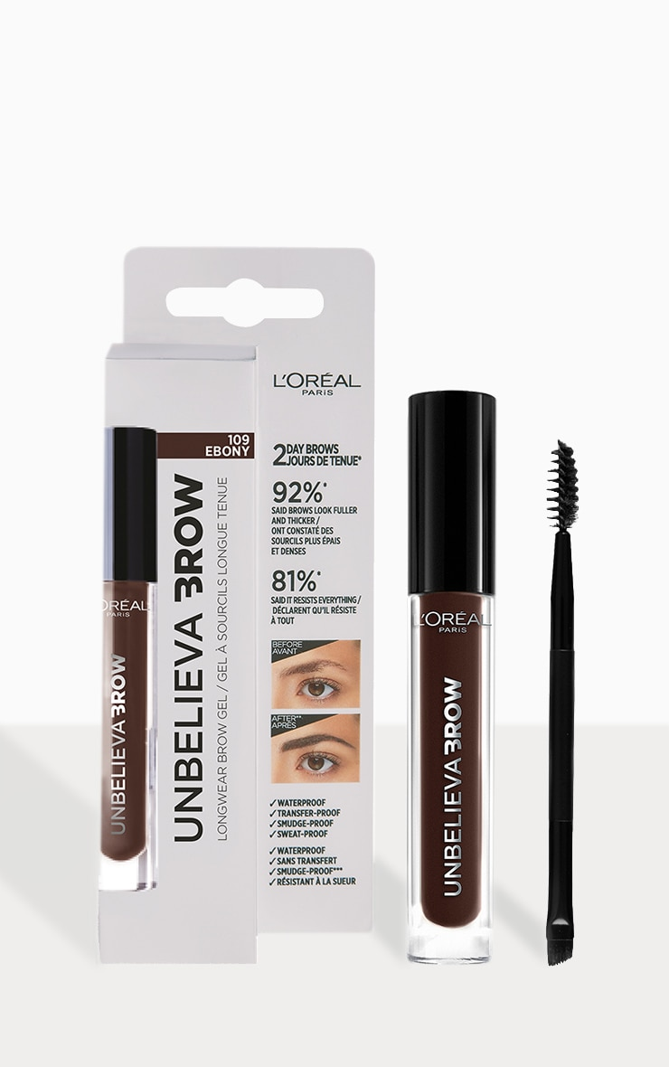 L'Oreal Paris Unbelieva'brow Long-Lasting Brow Gel 109 Ebony 1
