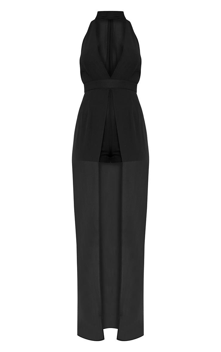 Jennie Black Plunge Maxi Playsuit 3
