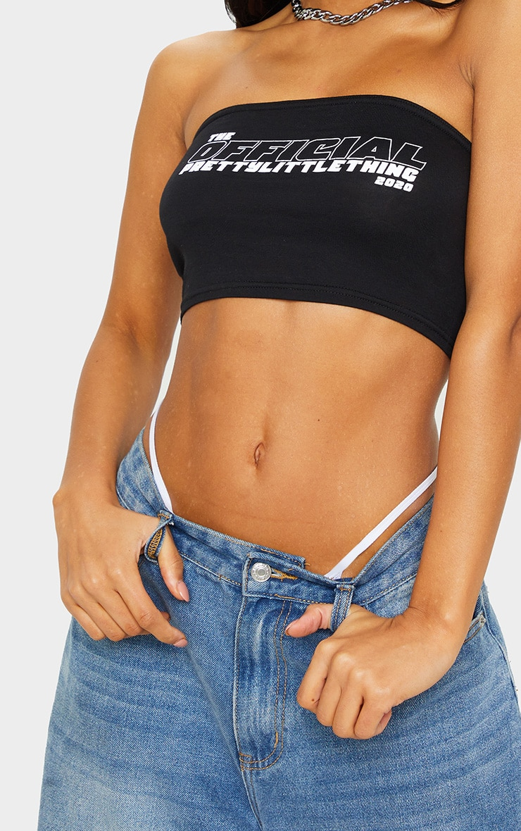 PRETTYLITTLETHING Black The Official Bandeau Top 4