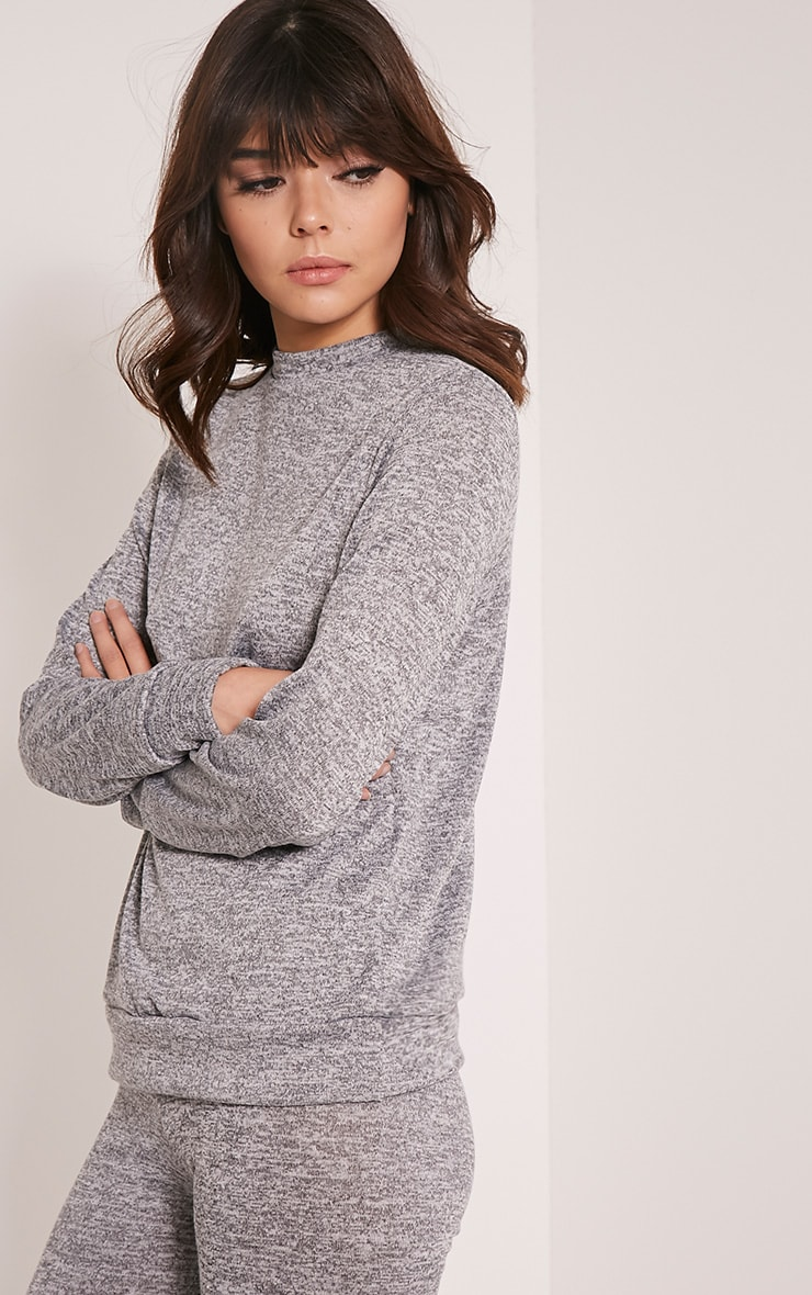 Dannie Grey Long Sleeve Tracksuit Sweatshirt 4