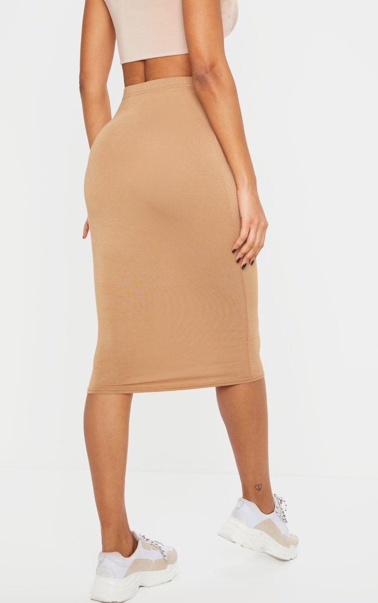 Basic Camel Midi Skirt 3