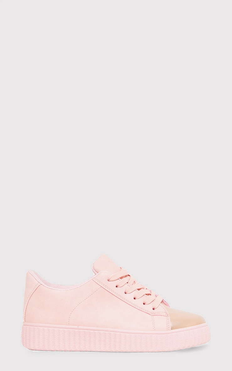 Amera Blush Faux Suede Trainers 2