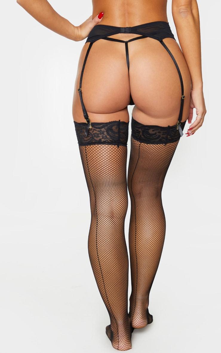 Black Ann Summers Sexy Lace Suspender Belt 3