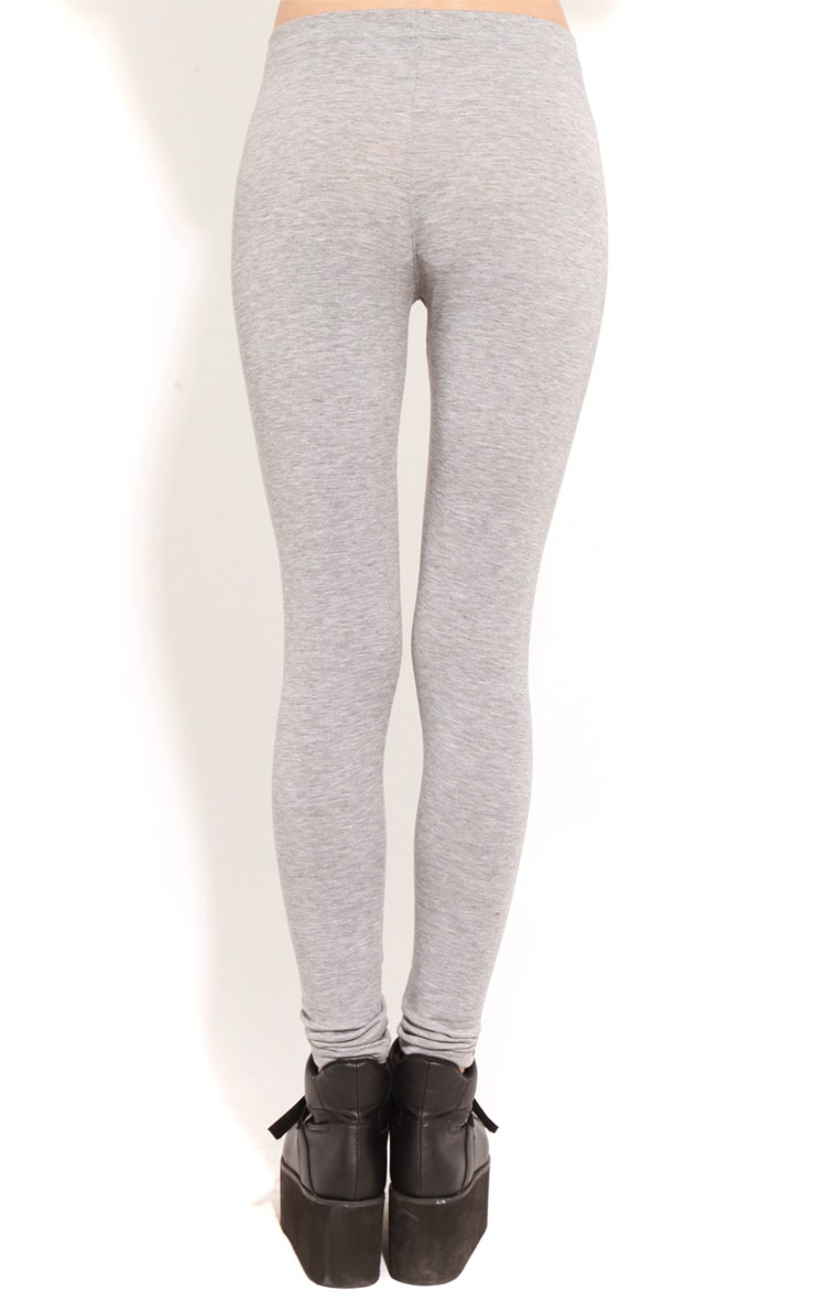 Alexus Grey Jersey Leggings 2