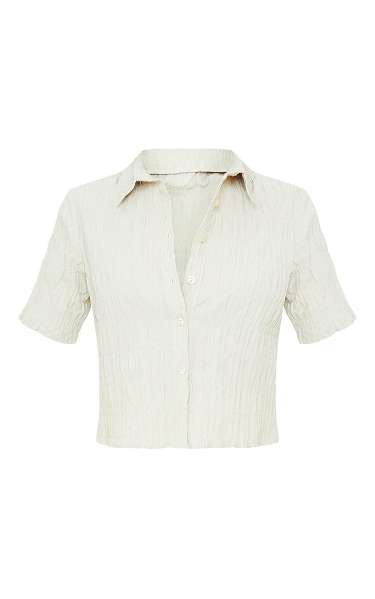 Stone Shirred Short Sleeve Shirt 5