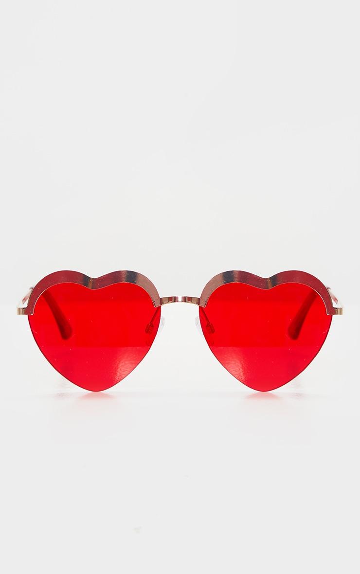 Red Lense Heart Shaped Glasses 2