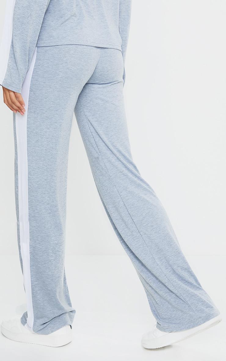 Grey Wide Leg Side Stripe Pants 3