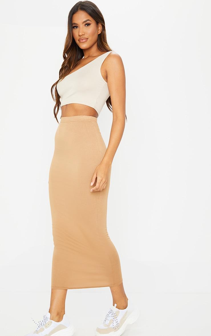 Camel Basic Midaxi Skirt 1