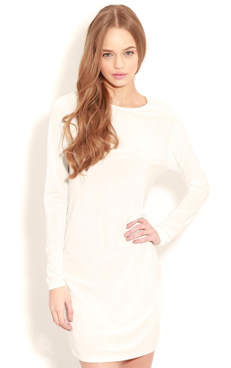 Ellen White Long Sleeved Swing Dress 4
