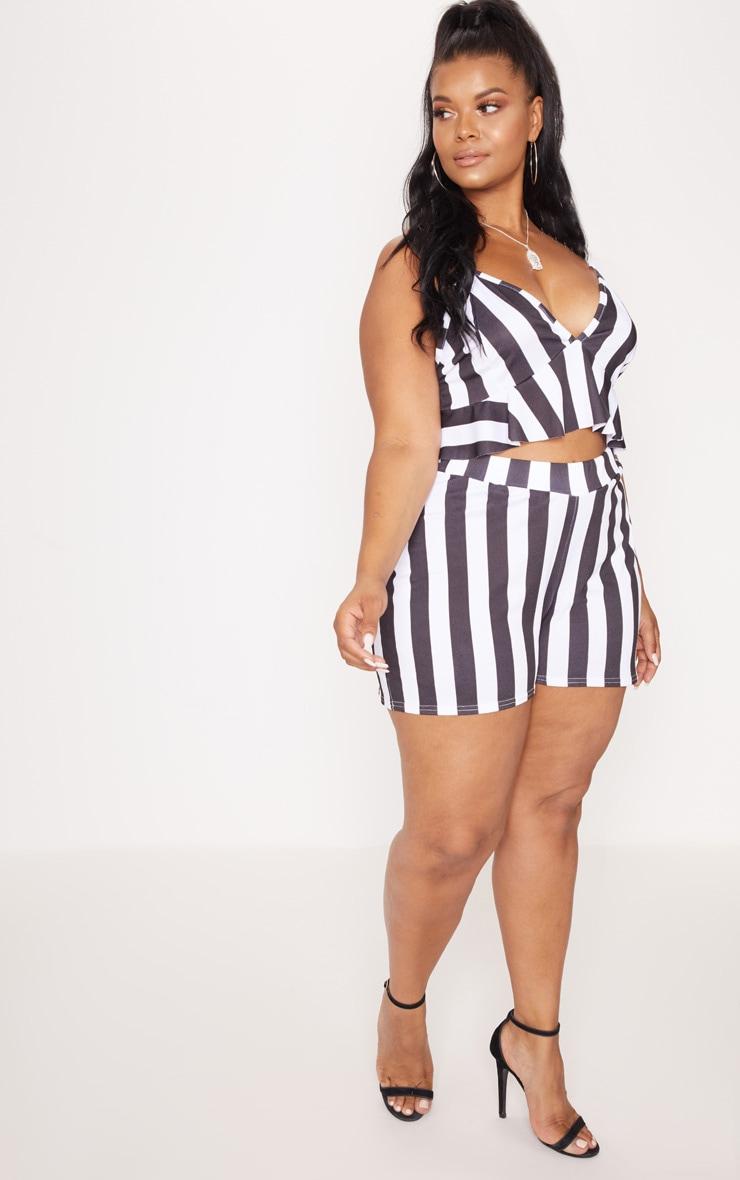 Plus White Stripe Shorts 5
