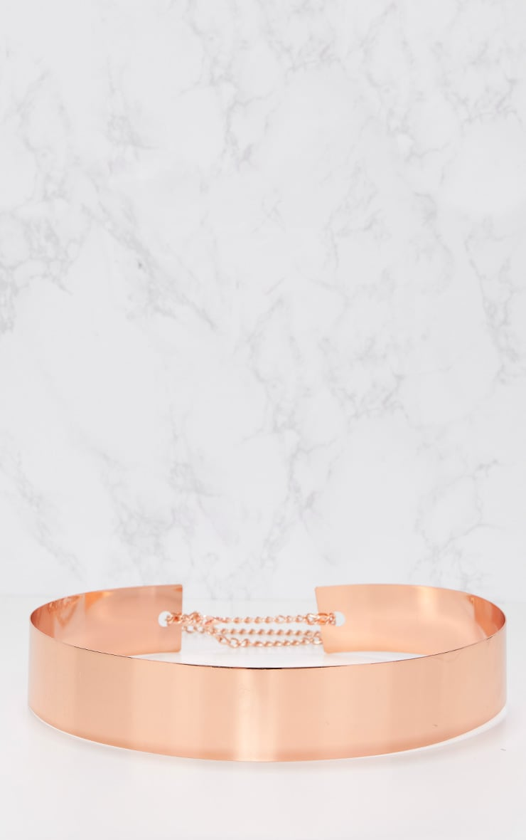 Rose Gold Metal Plated Belt 4