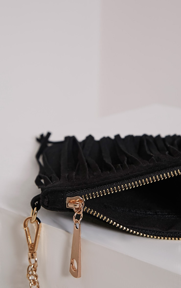 Dany Black Fringe Bag 5