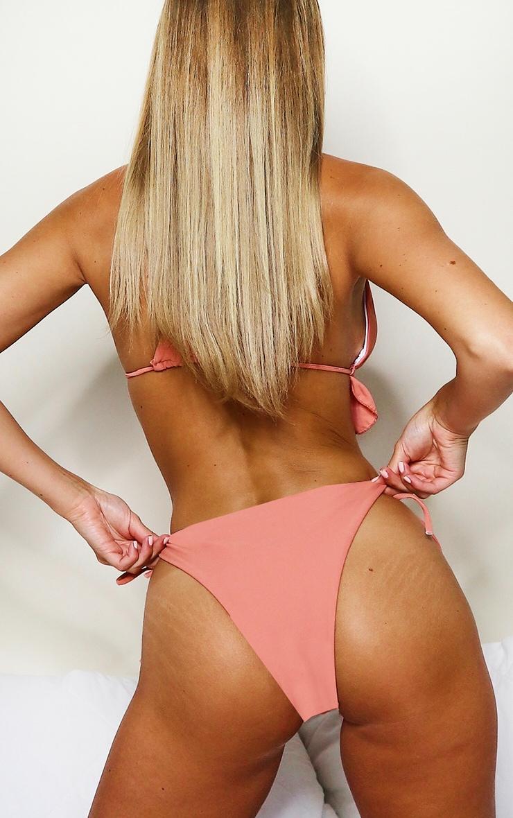 Peach Tie Side Full Bikini Bottoms 2
