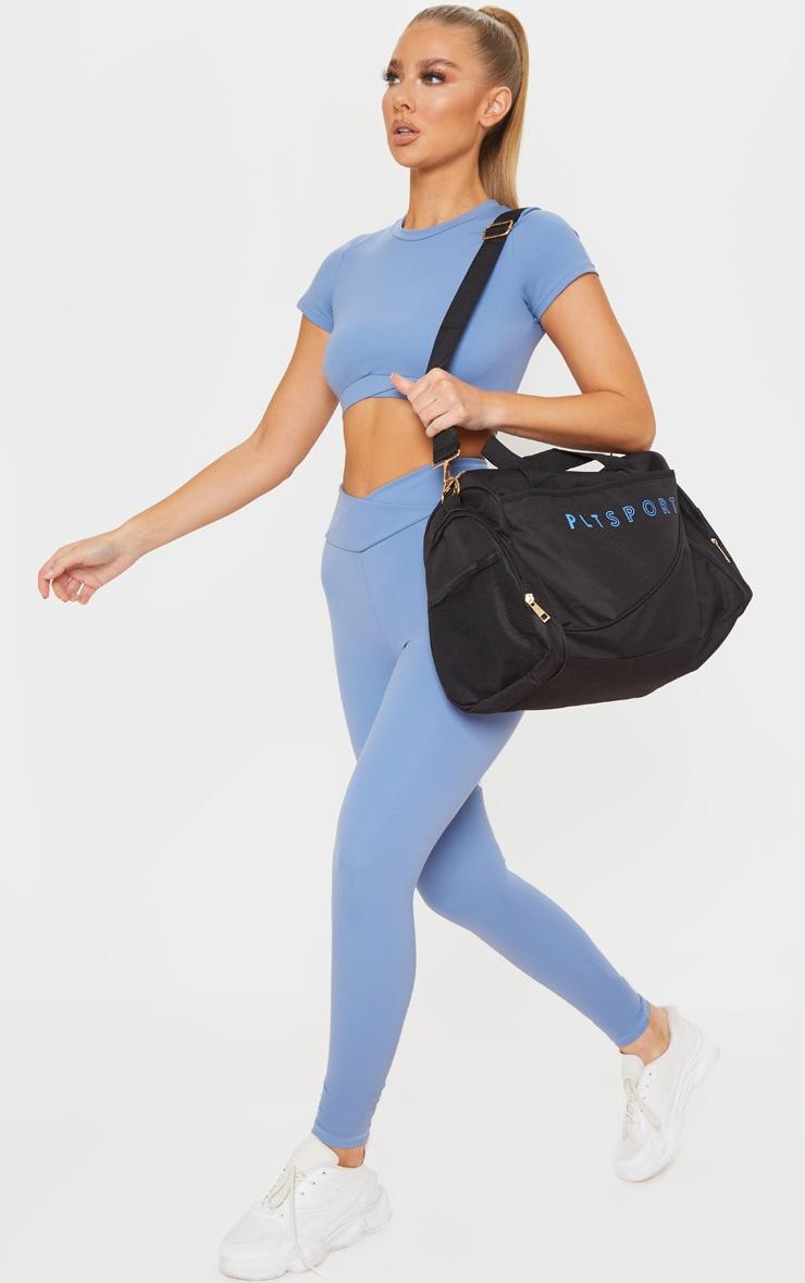PRETTYLITTLETHING Black Sport Duffle Bag 1