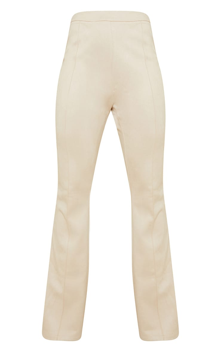 Stone Bonded Suede Flare Pants 5
