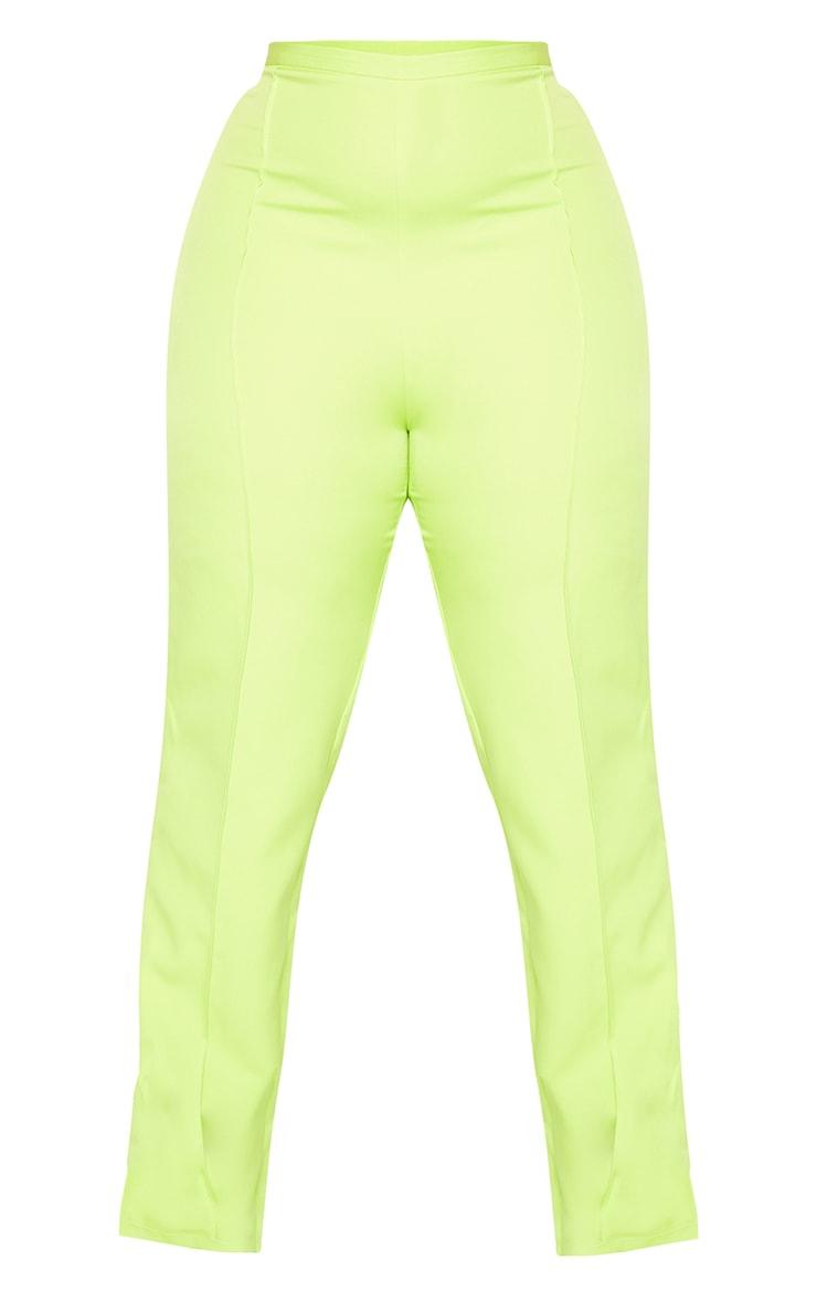 Plus Lime Pocket Back Split Hem Woven Pants 5