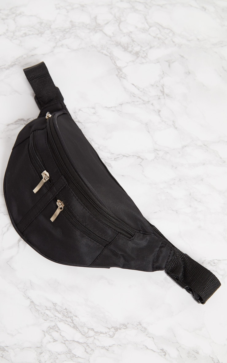 Black Zip Bum Bag 4