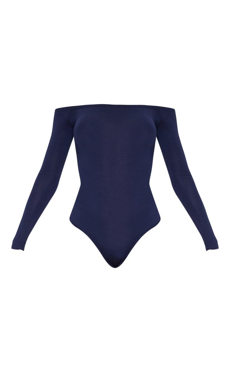 Navy Bardot Bodysuit 3