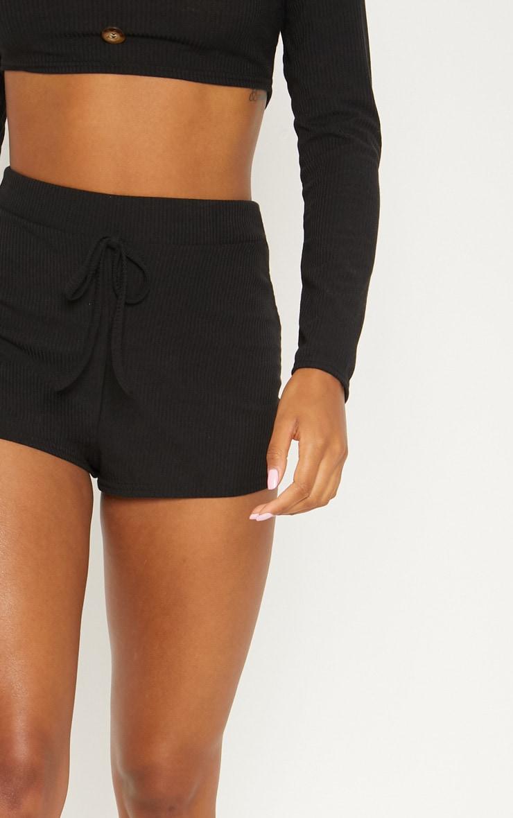 Black Rib Shorts 6