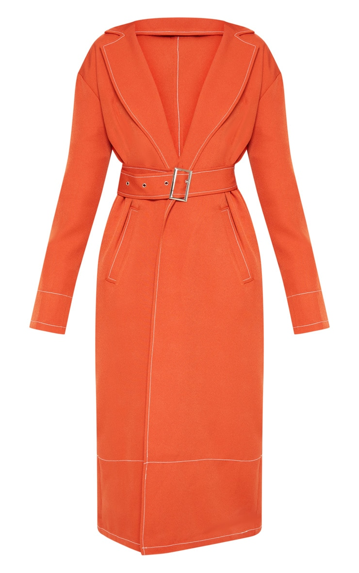 Rust Belted Trench 3