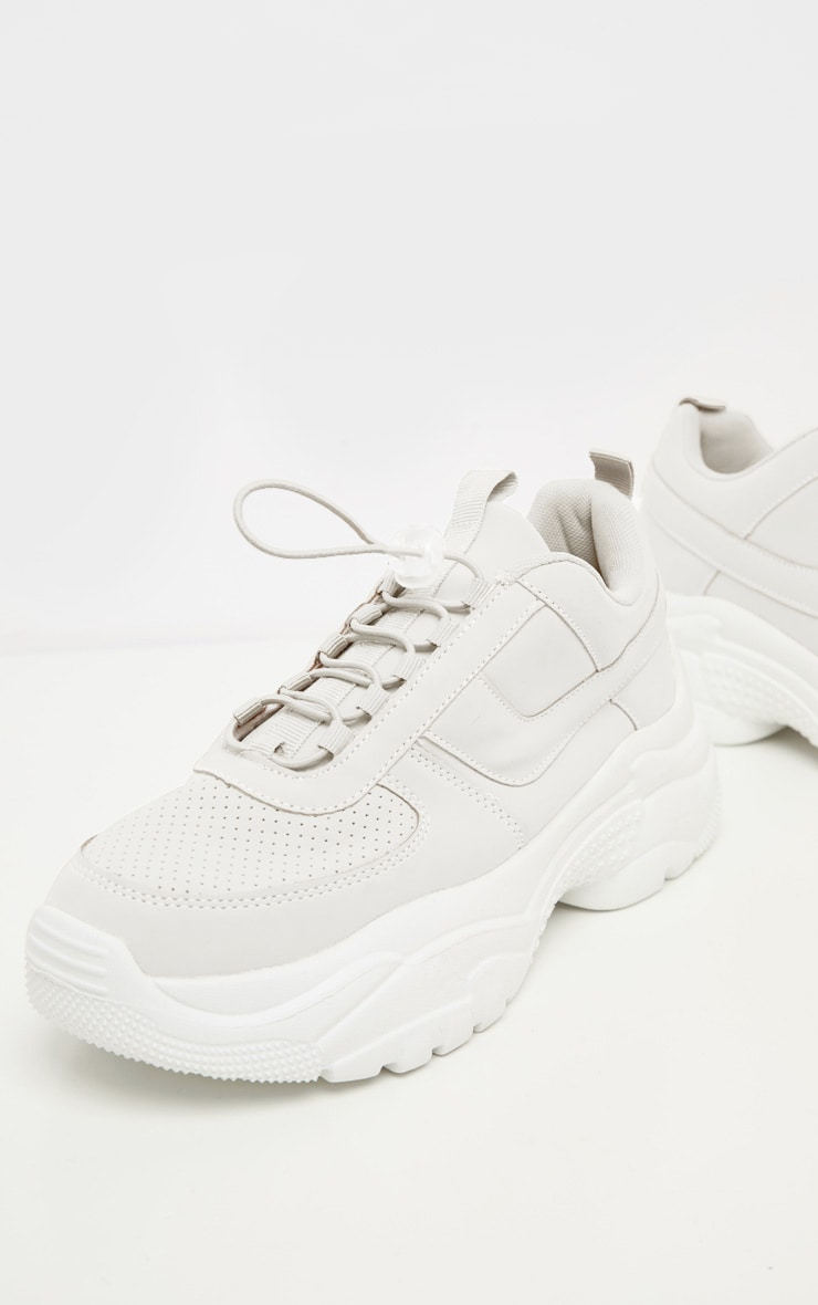 White High Arch Chunky Sole Trainer 3