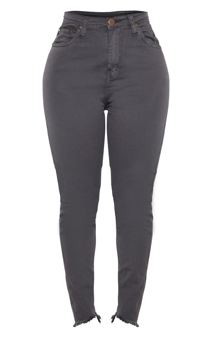 Shape - Jean skinny gris anthracite taille haute 3