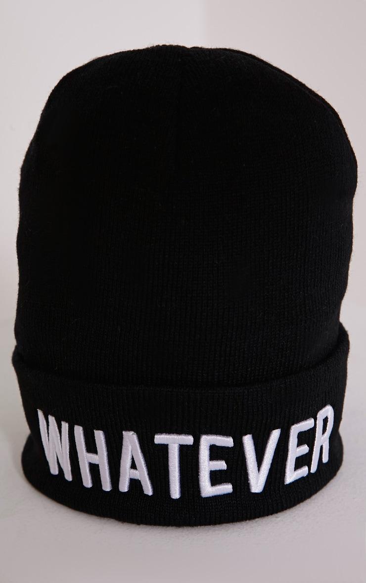 Whatever Black Beanie Hat 4